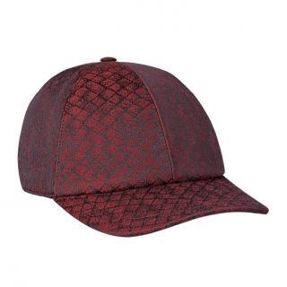Bottega Veneta intrecciato lurex baseball cap