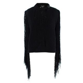 Calvin Klein 205W39NYC Black Fringed Jumper