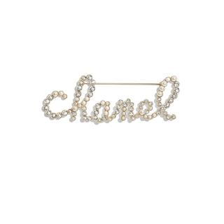 Chanel crystal & faux pearl embellished hair barrette
