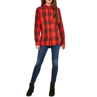 Denim & Supply Ralph Lauren Levitt Plaid Boyfriend Shirt
