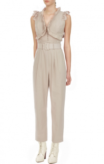 Self Portrait Cotton Broderie Sleeveless Jumpsuit