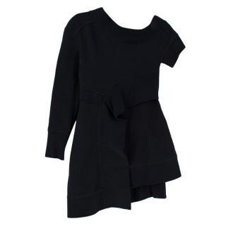 Burberry Off The Shoulder Black Cotton Dress
