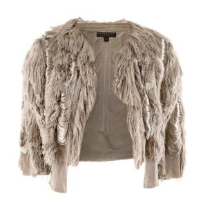 Burberry Metallic Fringed Bolero