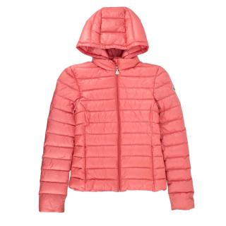 Moncler Pink Longue Saison Girls' Puffer Coat
