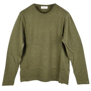 YMC Green Striped Sweatshirt