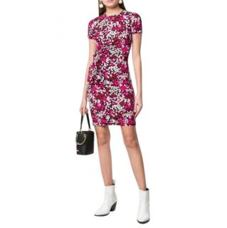Michael Kors pink floral short-sleeve dress