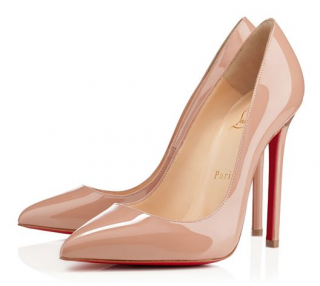 Christian Louboutin Pigalle 120 Nude Patent