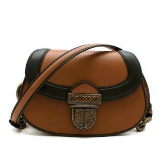 Bottega Veneta Umbria Limited Edition Bag in Tan/Nero Calf