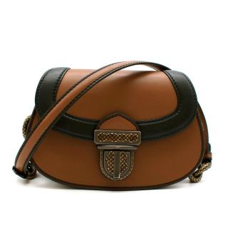 Bottega Veneta Umbria Limited Edition Bag in Tan/Nero Calf