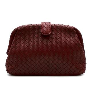 Bottega Veneta The Lauren 1980 Burgundy Intrecciato Clutch