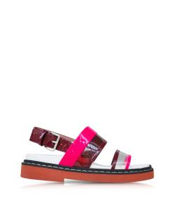 Marni Fussbett Pink Transparent Flat Sandals