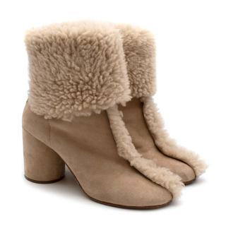 Maison Margiela Sheepskin Nude Boots