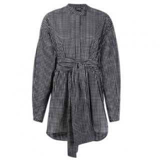 Ellery belted gingham oversized shirt