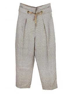 Peter Pilotto tweed belt-detailed wide-leg trousers