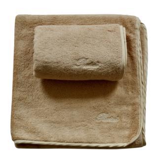 Pratesi beige cotton towel set
