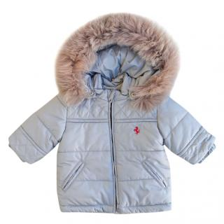 Ferrari light grey baby parka coat