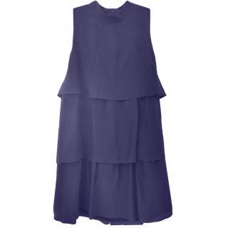 Just Cavalli purple silk sleeveless dress