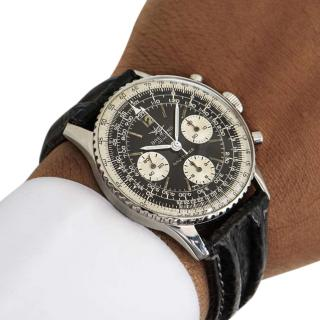 Breitling Stainless Steel 40mm Vintage Navitimer Watch
