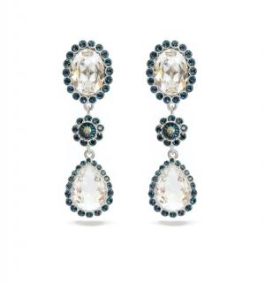 Miu Miu Crystal Clip-On Pendant Earrings