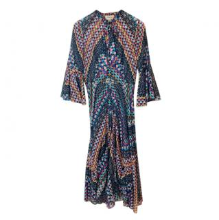 Temperley London Abstract Print Midi Dress
