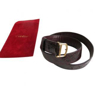 Cartier Vintage Must De Cartier Alligator Belt