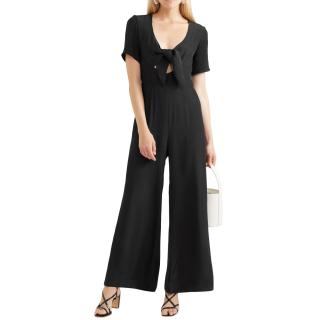 Staud Gabriella Black Cady Jumpsuit