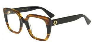 Gucci Havana Rectangular Optical Glasses