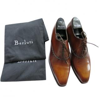 Berluti Antique Brown Leather Oxfords