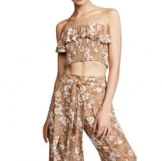 Faithfull The Brand Ines Floral Print Bandeau Crop Top
