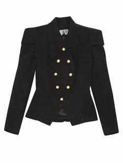 Maxime Simoens Military Black Jacket