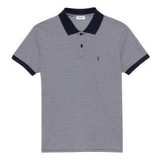 Saint Laurent striped polo shirt