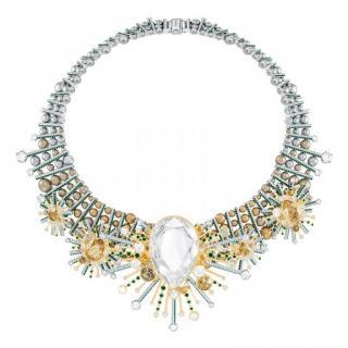 Swarovski gold & crystal Highness choker necklace