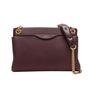 Anya Hindmarch  Claret Double Zip Shoulder Bag
