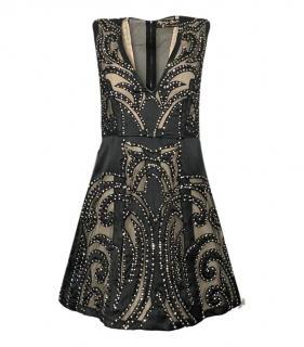 Stacey Bendet for Alice + Olivia Embellished Mesh Panelled Dress