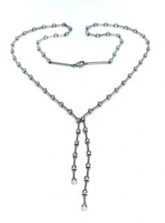 Bespoke Diamond Droplet Necklace in 18ct White Gold