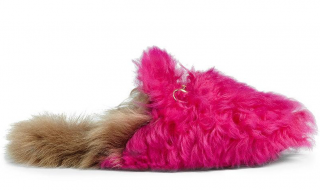 Gucci Princeton slide slippers in hot pink shearling
