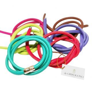 De Grisigono multi changeable  gold and leather bracelets