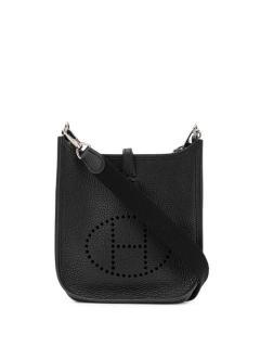 Hermes Black clemence leather TPM mini Evelyne Bag
