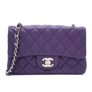 Chanel Purple Quilted Lambskin Mini Flap Bag