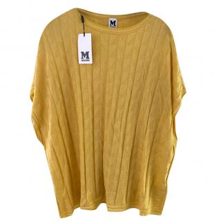 M Missoni Mustard Knit Oversize Top