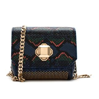 Elie Saab Snakeskin Effect Turnlock Small Shoulder Bag