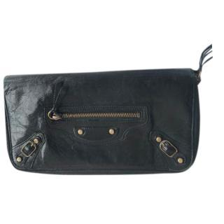 Balenciaga Black Zip-Around City Wallet