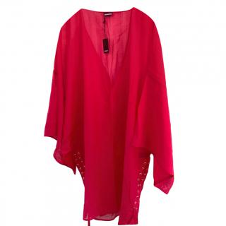 DSquared2 Pink Sheer Silk Blend Tunic