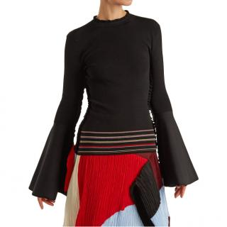 Roksanda Midori fluted-sleeves ribbed-knit sweater