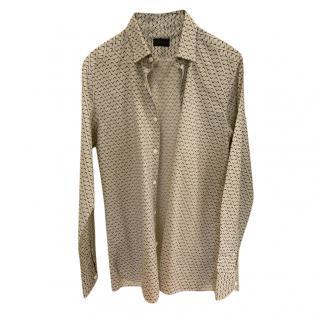 Lanvin cotton patterned long-sleeve shirt