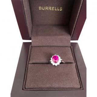 Bespoke Pink Sapphire & White Diamond Ring