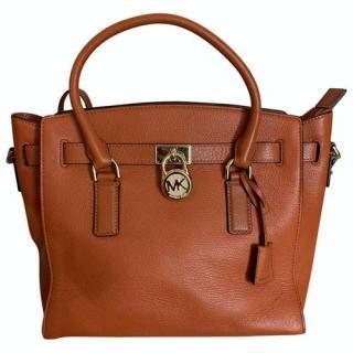 Michael Kors Cognac Leather Tote Bag