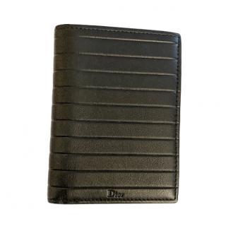 Dior Black Leather Bi-Fold Wallet