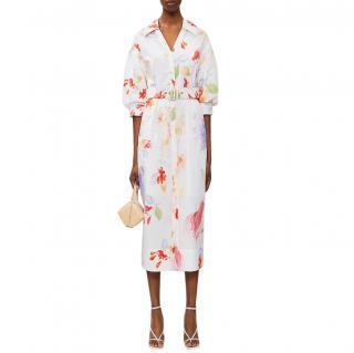Peter Pilotto V-neck floral-print cotton midi dress