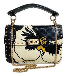 Valentino Python/Leather Ltd Edition Candy Spike Bag.